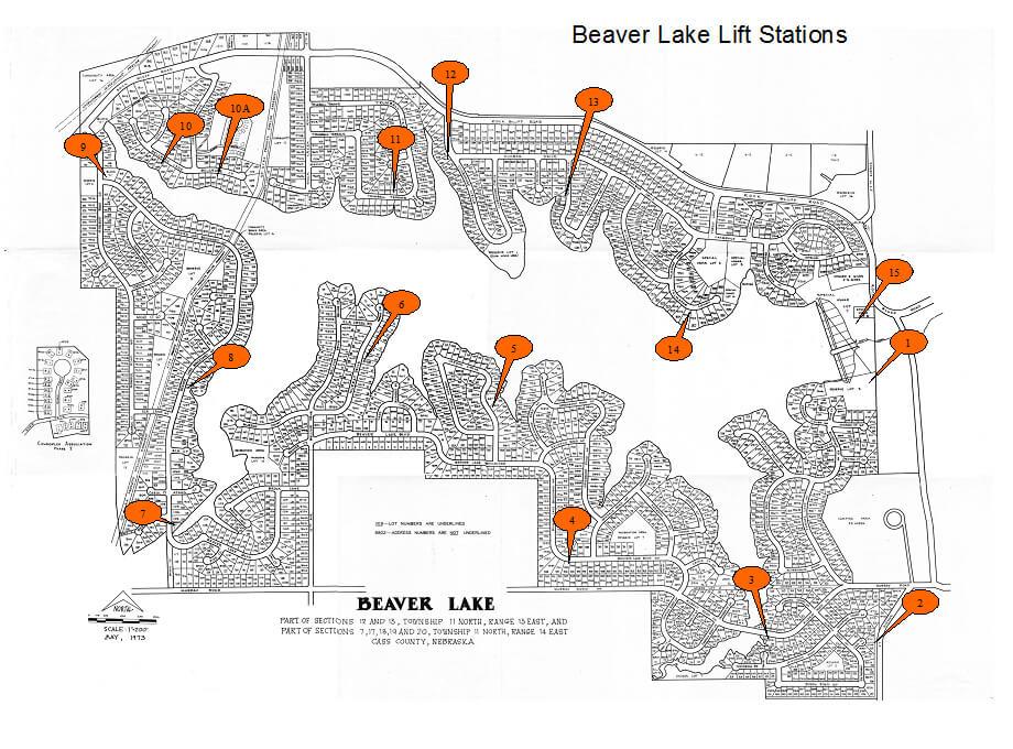 Lift Station Location Map