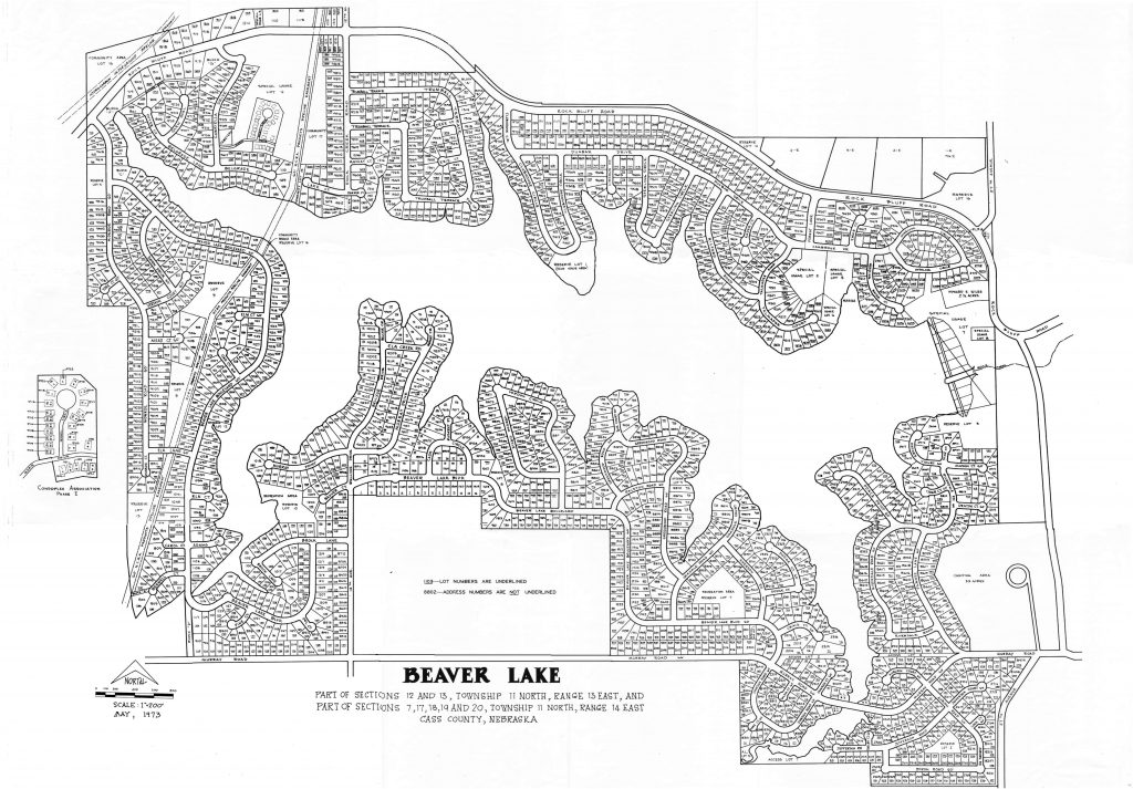 BLA Numbered Lots Map